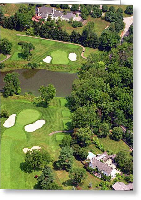 Plymouth Meeting Aerials Greeting Cards - 5th Hole Sunnybrook Golf Club 398 Stenton Avenue Plymouth Meeting PA 19462 1243 Greeting Card by Duncan Pearson