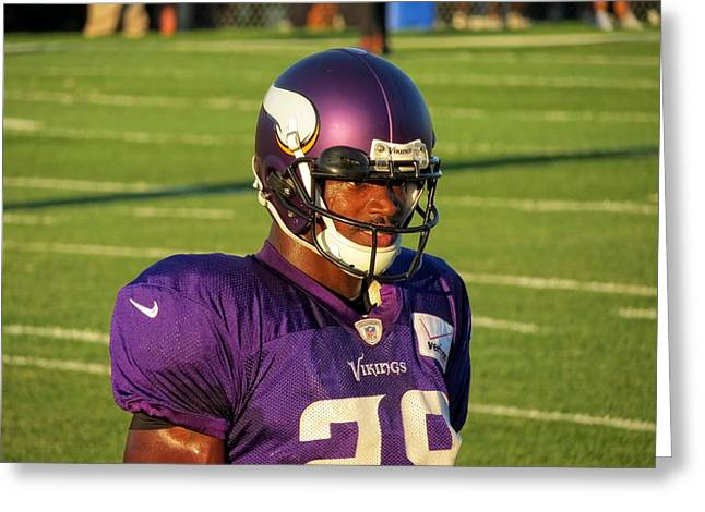 Adrian Peterson Greeting Cards - Adrian Peterson Greeting Card by Kyle J West