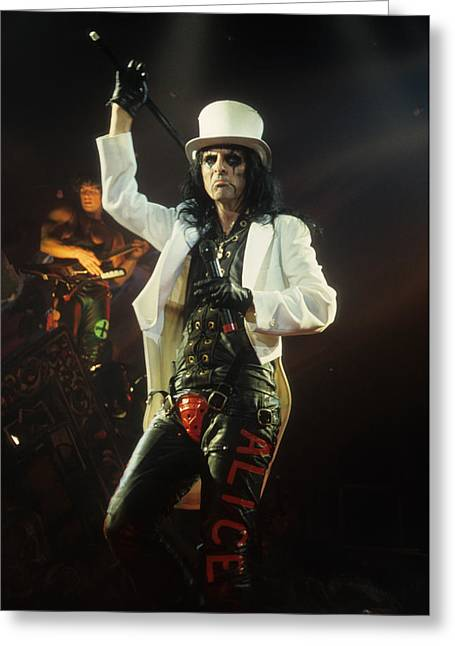 Alice Cooper Greeting Card by Rich Fuscia