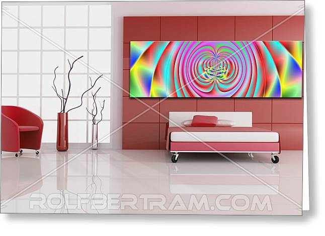 An Example Of Modern Art By Rolf Bertram In An Interior Design Setting Greeting Card by Rolf Bertram