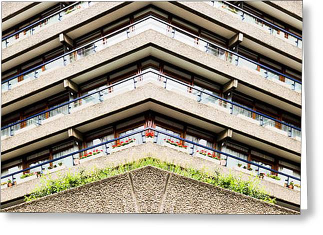 Brutalist Greeting Cards - Apartment building Greeting Card by Tom Gowanlock