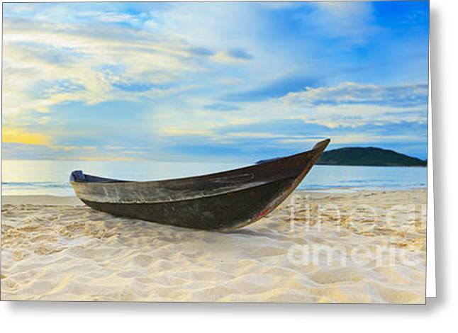 Vietnamese Greeting Cards - Beach panorama Greeting Card by MotHaiBaPhoto Prints