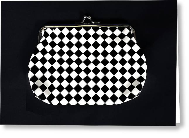 Purses Greeting Cards - Black And White Greeting Card by Joana Kruse
