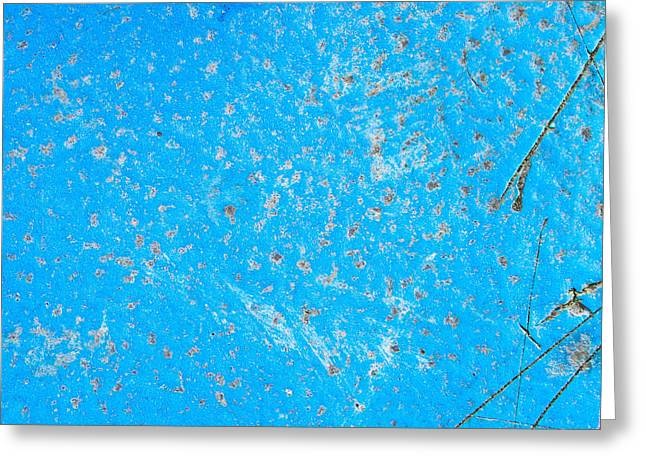 Border Photographs Greeting Cards - Blue metal Greeting Card by Tom Gowanlock