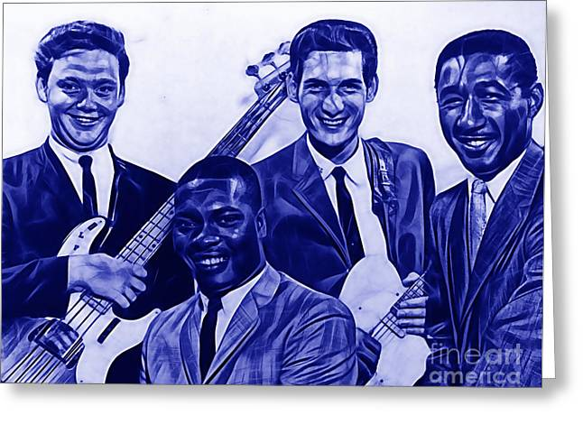 Soul Greeting Cards - Booker T. and The M.Gs Greeting Card by Marvin Blaine