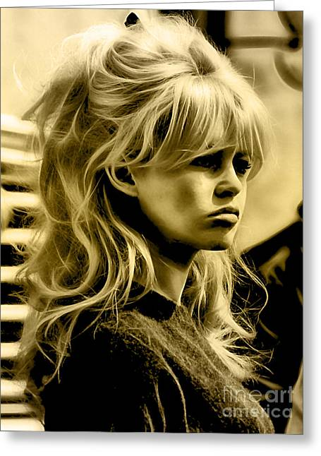 Brigitte Greeting Cards - Brigitte Bardot Collection Greeting Card by Marvin Blaine