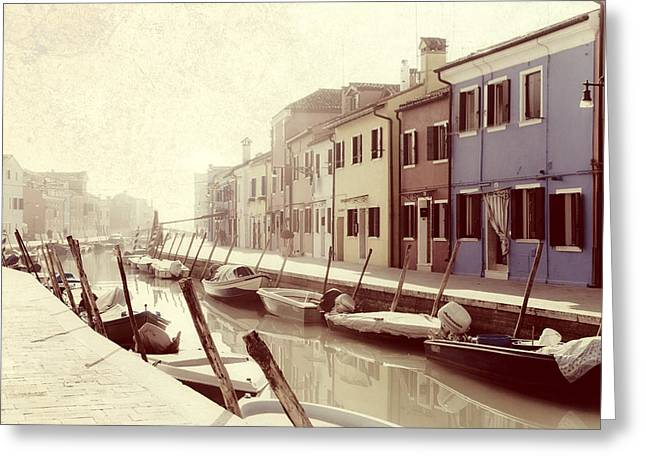 Waterways Greeting Cards - Burano Greeting Card by Joana Kruse