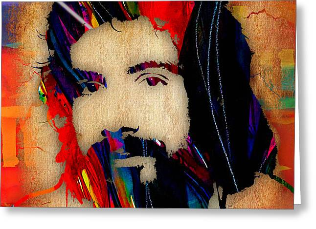 Cat Stevens Collection Greeting Card by Marvin Blaine