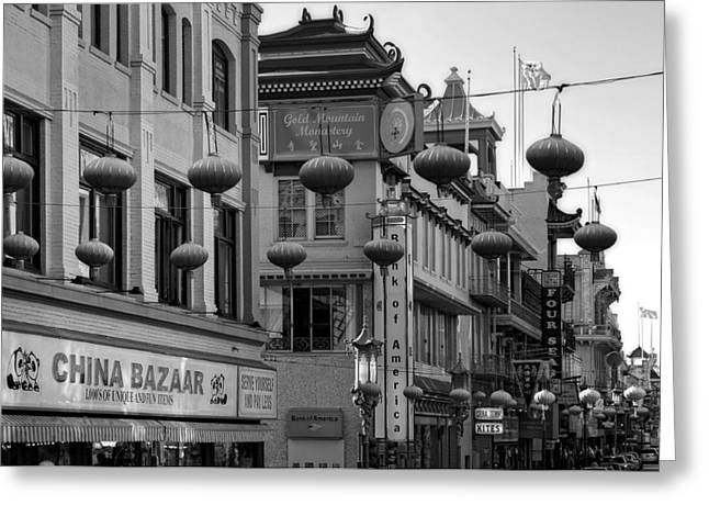 Paper Lantern Greeting Cards - Chinatown - San Francisco Greeting Card by Mountain Dreams