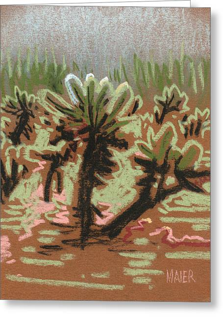 Bear Pastels Greeting Cards - Cholla Greeting Card by Donald Maier