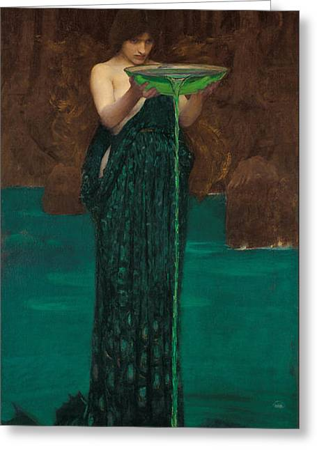 Circe Invidiosa Greeting Card by John William Waterhouse