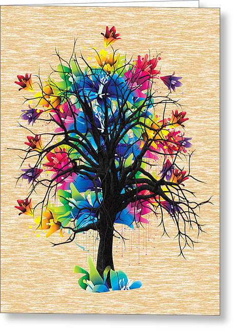 Tree Branch Greeting Cards - Color Tree Collection Greeting Card by Marvin Blaine