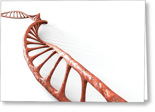 Molecular Greeting Cards - DNA Strand Micro Greeting Card by Allan Swart