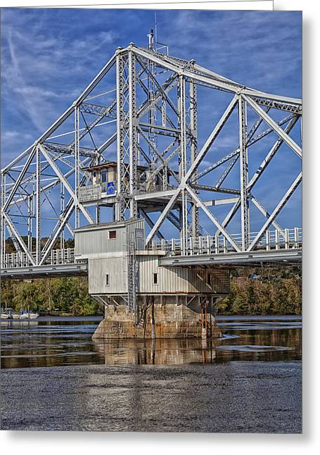 East Haddam Connecticut Greeting Cards - East Haddam Bridge Greeting Card by Mountain Dreams