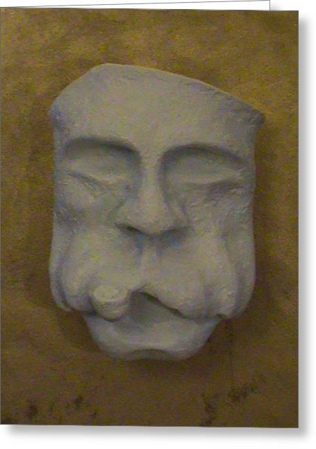 Pirates Sculptures Greeting Cards - Face On The Mask Greeting Card by Alexander Almark
