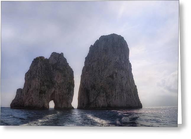Napoli Greeting Cards - Faraglioni - Capri Greeting Card by Joana Kruse
