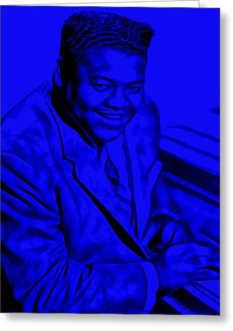 Piano Greeting Cards - Fats Domino Collection Greeting Card by Marvin Blaine