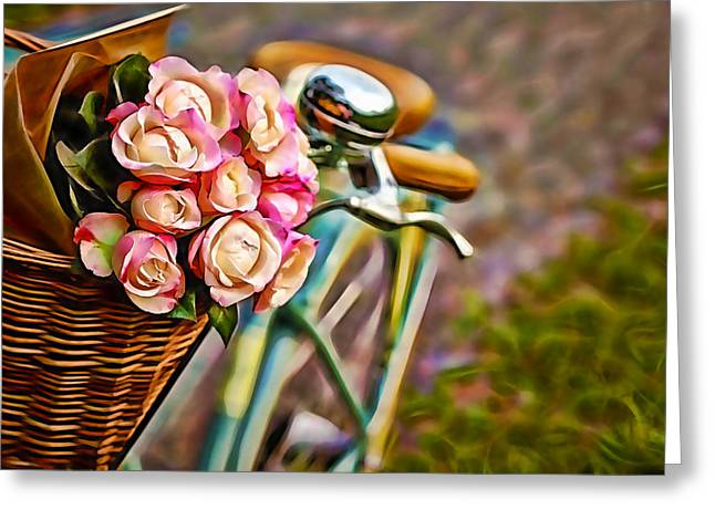Flower Bike Collection Greeting Card by Marvin Blaine