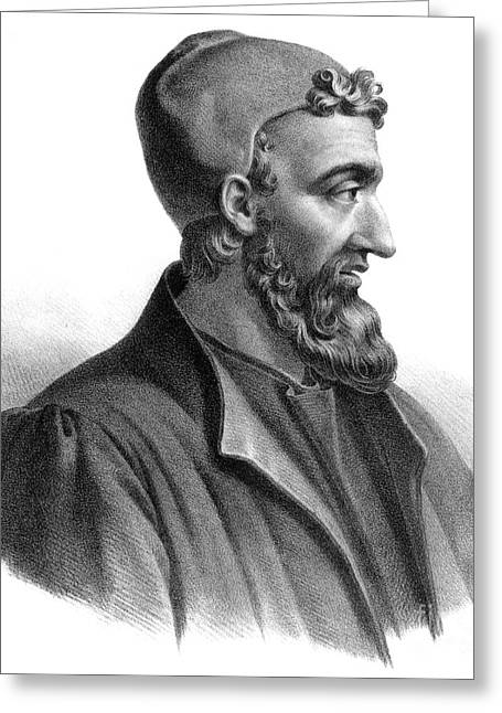 Galen, Greek Physician And Philosopher Greeting Card by Science Source