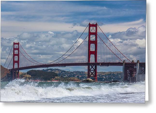 Ralf Kaiser Greeting Cards - Golden Gate Greeting Card by Ralf Kaiser