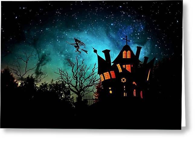 Creepy Digital Greeting Cards - Halloween Greeting Card by FL collection