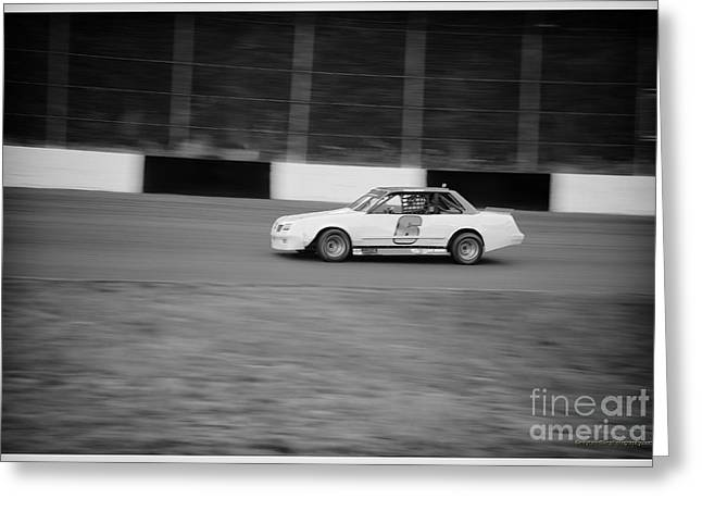 Racecar Number Greeting Cards - #6 Is Leading The Pack Greeting Card by Wayne Wilton