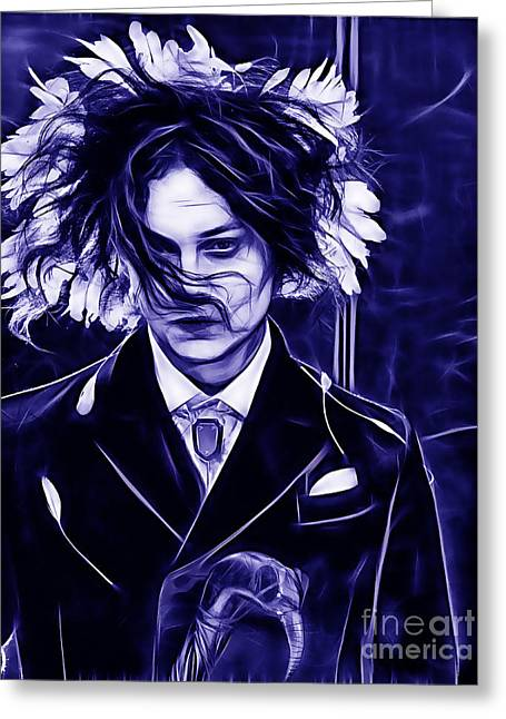 Jack White Greeting Cards - Jack White Collection Greeting Card by Marvin Blaine