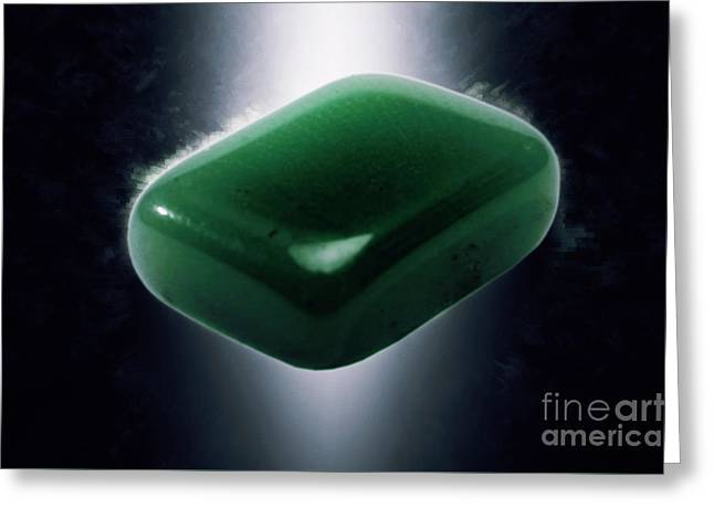 Jade Semiprecious Gemstone Greeting Card by Ilan Rosen