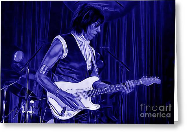 Jeff Mixed Media Greeting Cards - Jeff Beck Collection Greeting Card by Marvin Blaine