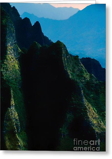 Overcast Day Greeting Cards - Koolau Mountains Greeting Card by Thomas R Fletcher
