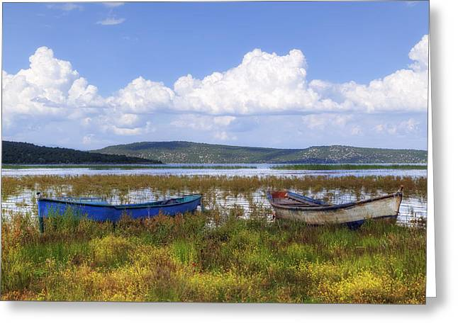 Lake Beysehir - Turkey Greeting Card by Joana Kruse