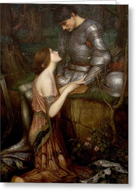 Camelot Greeting Cards - Lamia Greeting Card by John William Waterhouse