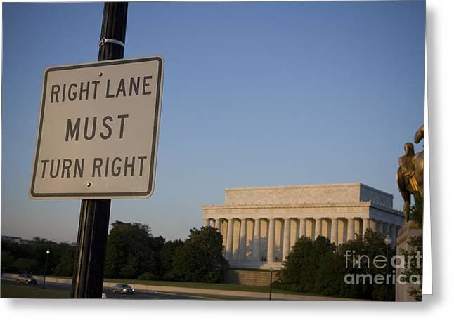 Liberation Greeting Cards - Lincoln Memorial - National Mall and Memorial Parks Greeting Card by Jason O Watson