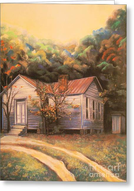 Artist Curtis James Art Pastels Greeting Cards - Linda Brown You Are Not Alone Greeting Card by Curtis James