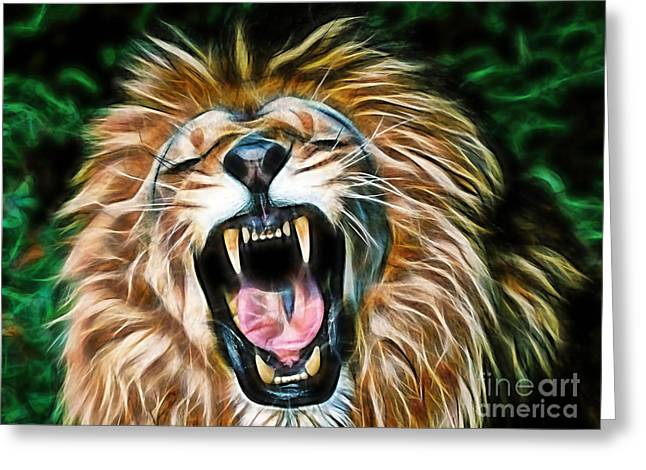Hip Greeting Cards - Lion Greeting Card by Marvin Blaine