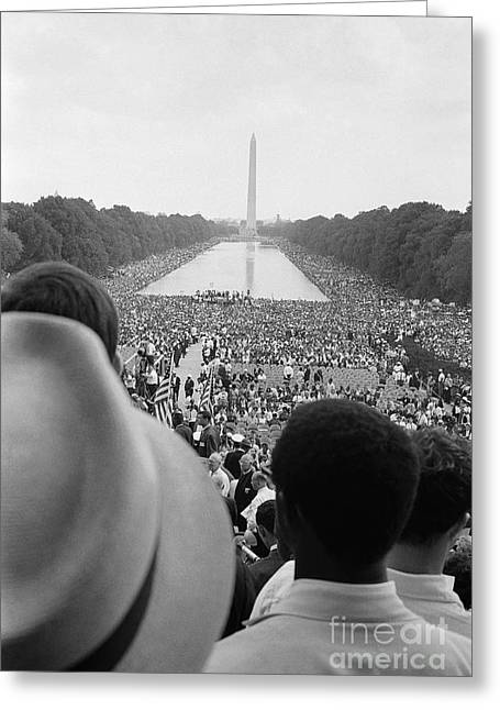 March On Washington Greeting Cards - March On Washington, 1963 Greeting Card by Granger