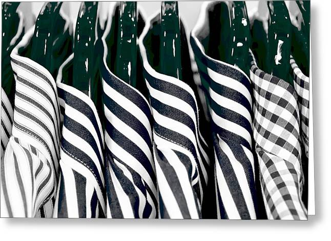 Men's Shirts Greeting Card by Tom Gowanlock