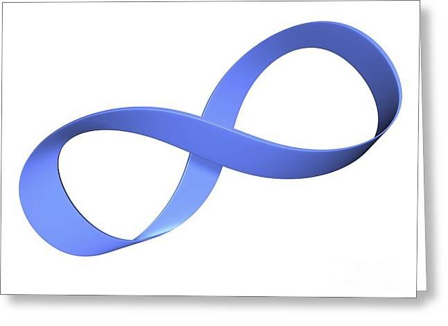 Mobius Strip Greeting Cards - Mobius Strip, Computer Artwork Greeting Card by Pasieka
