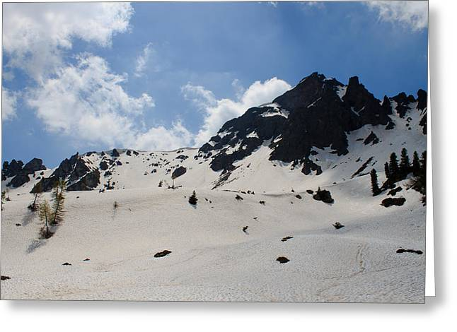 Snow Scene Landscape Greeting Cards - Mountain panorama Greeting Card by Davide Guidolin