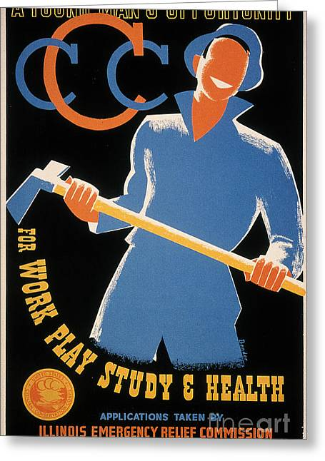 Civilians Greeting Cards - New Deal: Wpa Poster Greeting Card by Granger