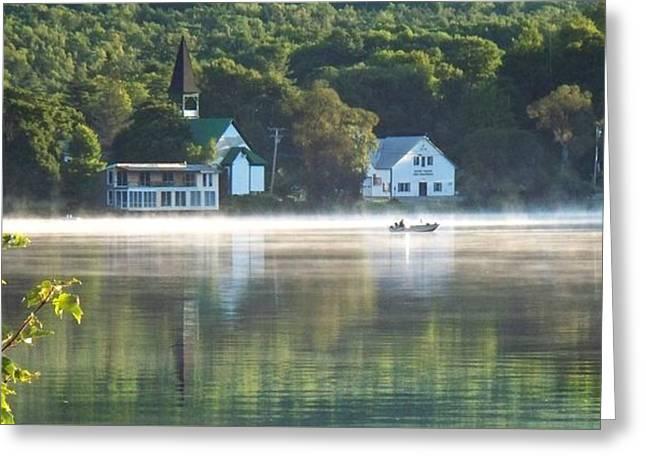Olson House Greeting Cards - 6  OClock Mt. Vernon, Maine Morning Greeting Card by Joy Nichols