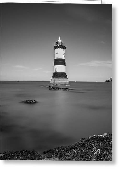 Ocean Sailing Greeting Cards - Penmon Lighthouse Greeting Card by Ian Mitchell