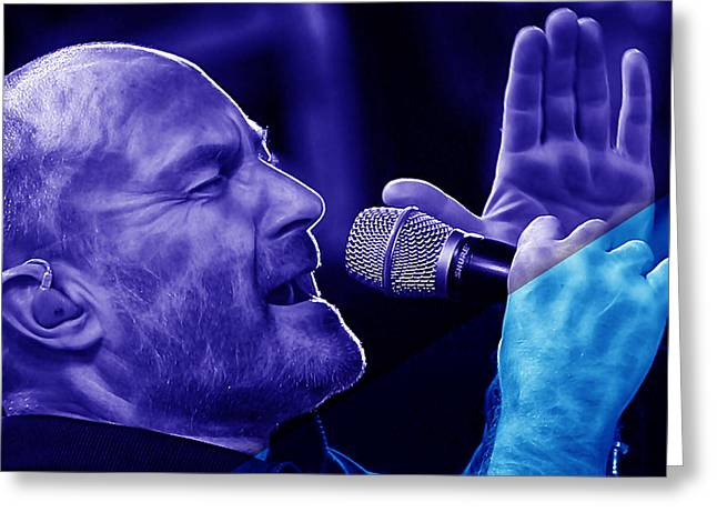 Drummer Greeting Cards - Phil Collins Collection Greeting Card by Marvin Blaine