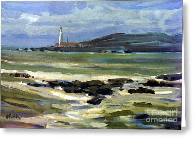 California Lighthouse Greeting Cards - Pigeon Point Light Greeting Card by Donald Maier