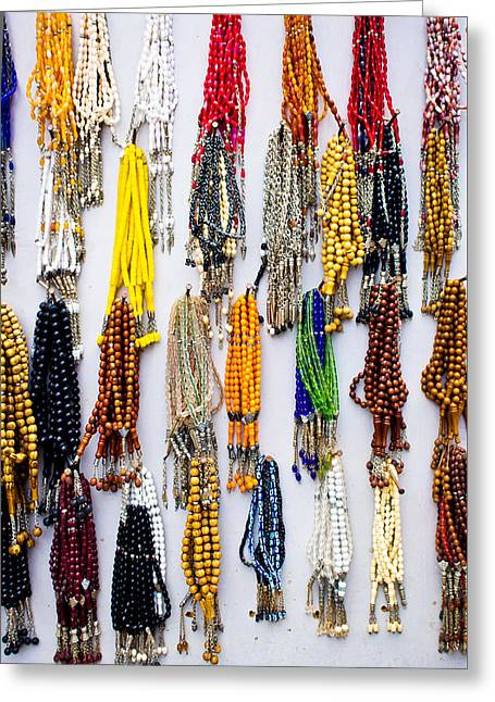Hand Made Greeting Cards - Prayer beads Greeting Card by Tom Gowanlock