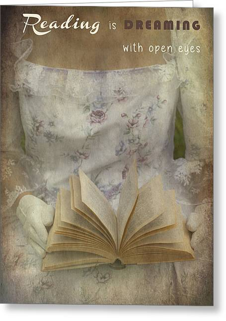 Garment Greeting Cards - Reading Greeting Card by Joana Kruse