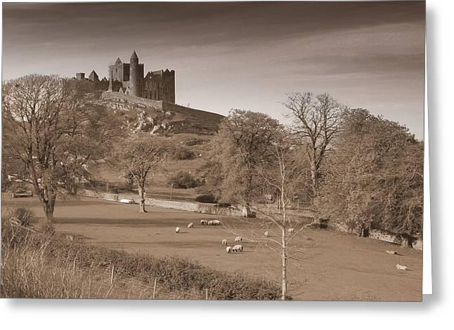 Church Ruins Greeting Cards - Rock of Cashel Greeting Card by John Quinn