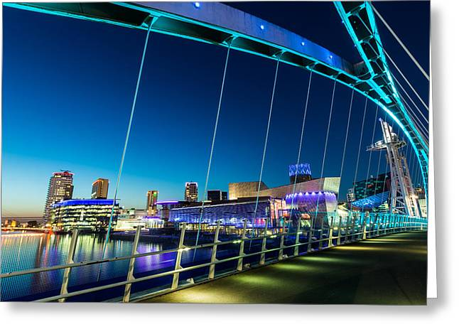 Long Street Greeting Cards - Salford Quays Manchester England. Greeting Card by Daniel Kay