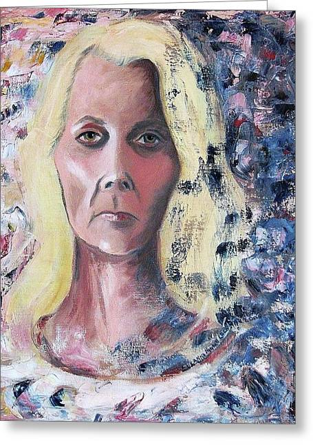 Self-portrait Greeting Cards - Self Portrait Greeting Card by Suzanne  Marie Leclair