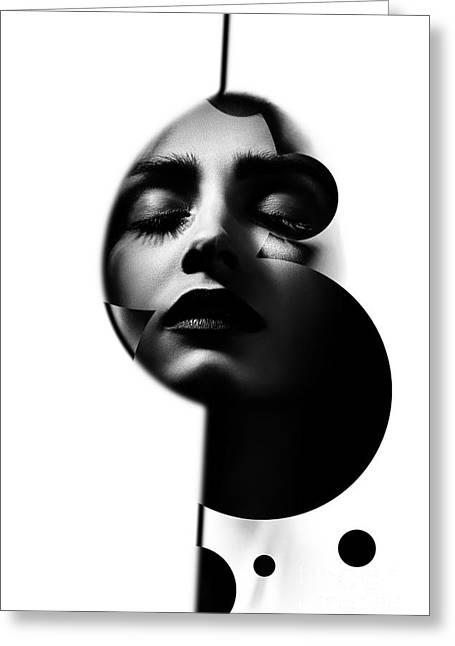 Sensual Woman Greeting Card by Aleksey Tugolukov